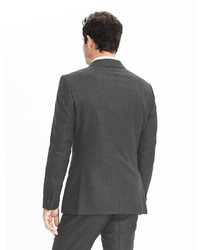 f845aed6997a ... Banana Republic Slim Monogram Charcoal Plaid Wool Double Breasted Suit  Jacket ...