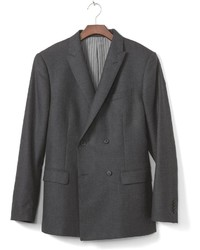01008678aab5 ... Banana Republic Slim Monogram Charcoal Plaid Wool Double Breasted Suit  Jacket