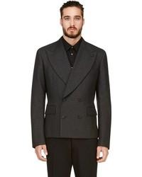 Comme des Garcons Comme Des Garons Homme Plus Charcoal Short Wool Blazer