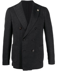 Lardini Floral Detail Double Breasted Blazer