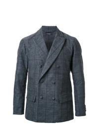 Pinstripe double breasted blazer grey medium 7131163