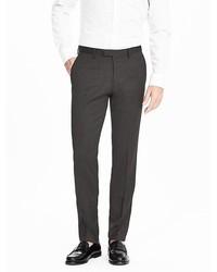 Banana Republic Modern Slim Charcoal Wool Suit Trouser