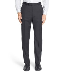 Z Zegna Big Tall Flat Front Check Wool Trousers