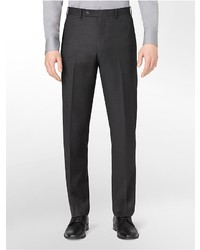 Calvin Klein Body Slim Fit Charcoal Wool Suit Pants