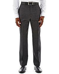 Claiborne Charcoal Herringbone Flat Front Suit Pants