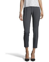 Tahari Charcoal Stretch Juliette Flat Front Pants