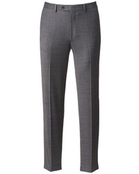 Chaps Classic Fit Gray Wool Blend Comfort Stretch Flat Front Suit Pants Big Tall