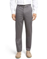 Nordstrom Men's Shop Classic Smartcare Relaxed Fit Flat Front Cotton Pants