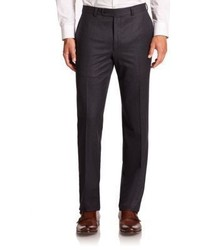 Saks Fifth Avenue Collection Wool Flat Front Pants