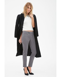Forever 21 Contemporary Slim Notched Hem Trousers