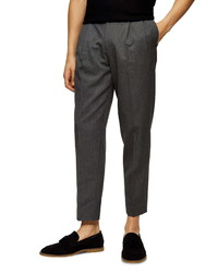 Topman Double Pleated Crop Pants