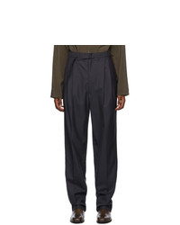 Lemaire Grey Tropical Wool Trousers