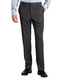 Prada Grey Wool Flat Front Straight Leg Pants