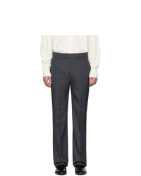 Lemaire Grey Wool Suit Trousers