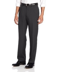 Haggar Solid Gabardine Hidden Expandable Straight Fit Plain Front Pant