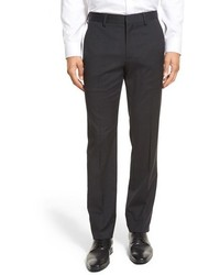 Jetsetter slim fit flat front solid stretch wool trousers medium 663828