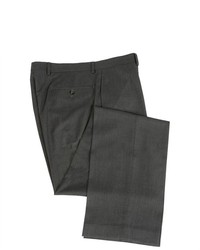 Joseph Abboud Flat Front Solid Charcoal Gray Dress Pants
