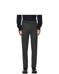 Ralph Lauren Purple Label Label Grey Flannel Solid Trousers