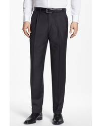 Luxury serge double pleated wool trousers medium 663833