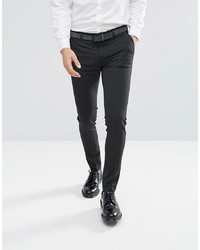 ASOS DESIGN Super Skinny Smart Trousers In Charcoal