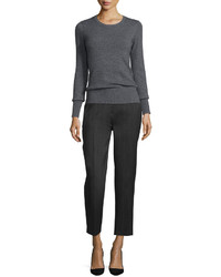 Donna Karan Tailored Slim Leg Ankle Trousers Charcoal
