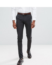 ASOS DESIGN Tall Super Skinny Smart Trousers In Charcoal