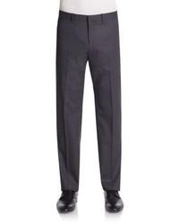 Theory Tonal Plaid Wool Blend Trousers
