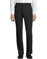 DKNY Wool Blend Straight Leg Trousers Charcoal