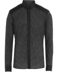 Balmain Cotton Shirt With Cut Out Detail
