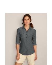 Eddie bauer infinity button down shirt charcoal m tall tall medium 103303