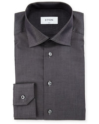 Slim fit solid dress shirt charcoal medium 815295