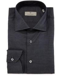 Solid dress shirt charcoal medium 4983185