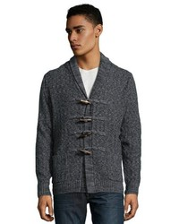 Matiere Stretch Limo Merino Wool Cashmere Toggle Front Fitz Cardigan