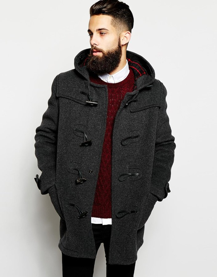 Gloverall Duffle Coat With Check Hood | Where to buy & how to wear