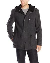 Kenneth Cole New York Tweed Wool Duffle Coat