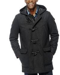 Izod Wool Blend Toggle Coat With Hood