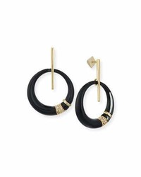 Alexis Bittar Crystal Encrusted Minimalist Hoop Earrings