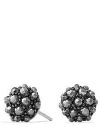 David Yurman Osetra Stud Earrings With Faceted Hematine