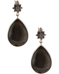 Stephen Dweck Verona Gray Mother Of Pearl Doublet Teardrop Earrings