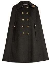 Dolce & Gabbana Embellished Collar Wool Cape