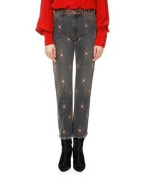 Isabel Marant Nolan Star Embellished Slim Straight Jeans