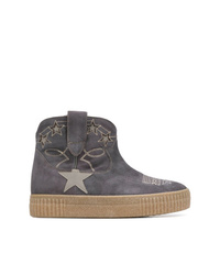 Golden Goose Deluxe Brand Embroidered Ankle Boots