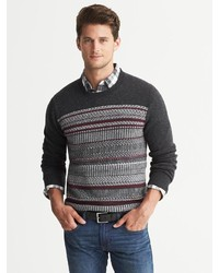 Banana Republic Merino Wool Fair Isle Crew | Where to buy & how to ...
