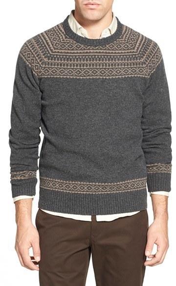 Bonobos Fair Isle Raglan Sleeve Lambswool Sweater | Where to buy ...