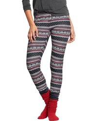 Patterned waffle knit pj leggings medium 123987