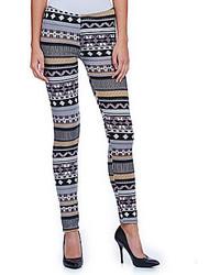Poof fair isle fleece leggings medium 123988