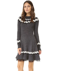 RED Valentino Fair Isle Sweater Dress