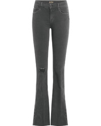 Mother Distressed Flared Jeans