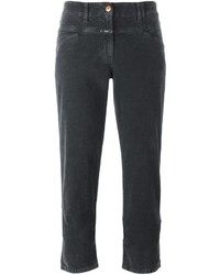 Closed Flared Cropped Trousers