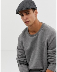 Ted Baker Crumbal Flat Cap In Grey